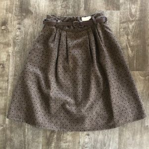 "ModCloth ""Mentor of Attention"" Brown Tweed Skirt"